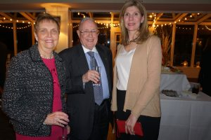 Patti and Eric Nicolaysen with the Chappaqua Garden Club's Melanie Smith Klein (right)