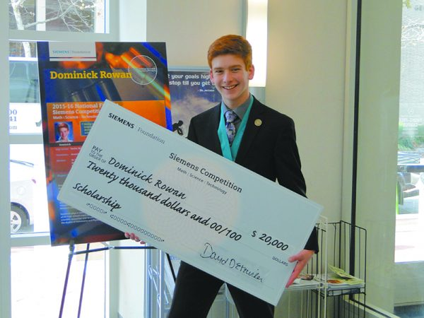 Byram Hills student Dominick Rowan was a nalist in the 2015 Siemens Competition in Math, Science and Technology, presenting his research to a panel in Washington, D.C.