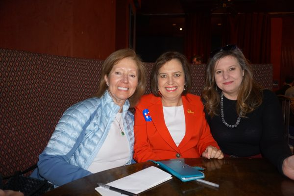 Ann Styles Brochstein, co-founder, Hillary NOW; Carol Evans, founder, Executive Women for HIllary; and myself!