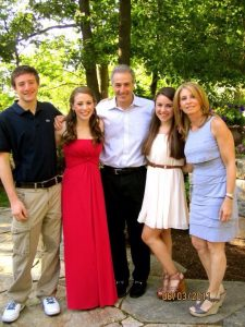 Evan Lieberman and his family