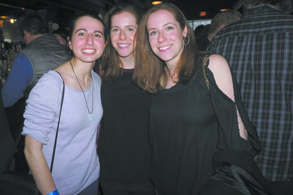 (L-R): Friends of Miles: Emily Waldman, Kaila Allison, and Nickki Allison