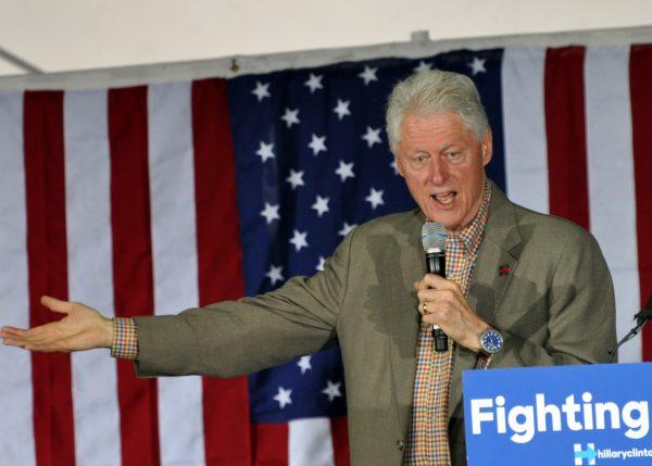 Bill Clinton speaking in Chula Vista, CA   Photo by Fran Goldstein