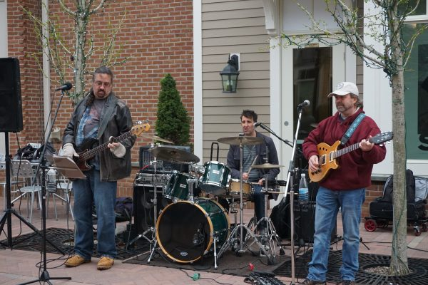 The Rock and Roll band, Powderfinger, in Armonk Square