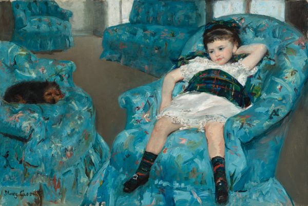 Little Girl in a Blue Armchair  Artist: Mary Cassatt