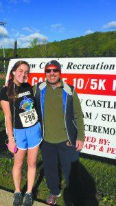 Olivia Sackler with Steve Sackler, her most dedicated dad