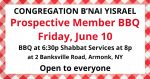 Congregation B'nai Yisrael in Armonk: Prospective Member Barbeque, June 10!