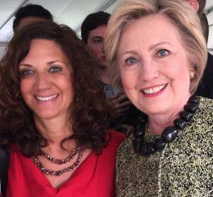 Dawn Dankner Rosen with Hillary Clinton