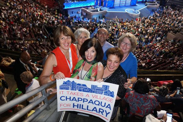 Chappaqua Friend of HIll and Tim in the arena on Wednesday.
