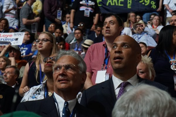 New Jersey Senator Corey Booker was transfixed too.