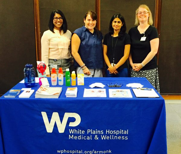 Presenting at the North Castle Public Libary (L-R): White Plains Hospital Medical and Wellness staff Dr. Anita Mannancheril, Family Medicine; Dr. Samantha Lowe, Pediatrics; Dr. Coral Parikh, Internal Medicine and Nephrology; and Dr. Ellen Lestz, Pediatrics.