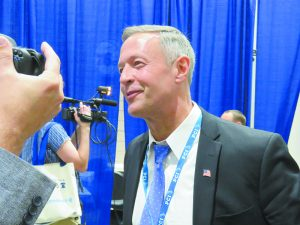 "I was happy for the chance to ask Governor Martin O'Malley for his reaction immediately following Michelle Obama's much lauded endorsement of Hillary Clinton. He said the First Lady's words ""summed up in a beautiful way why our country is already great."""