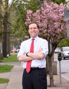 Assemblyman David Buckwald outside his office in Mt. Kisco, New York Photo by Todd Shapera