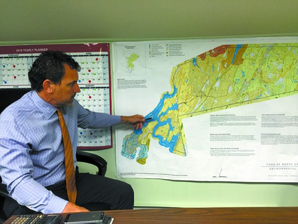 North Castle Supervisor Michael Schiliro explains restrictions imposed by his town's infrastructure.