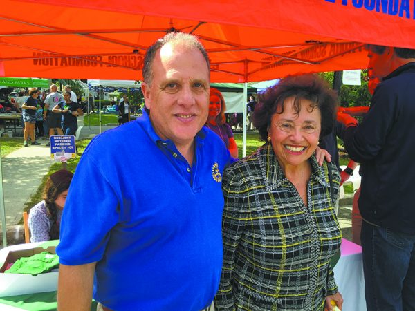 Rotary's Sandy Bueti with Congresswoman Nita Lowey