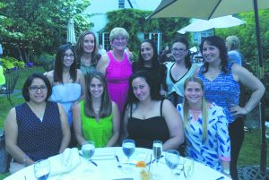 Oak Lane teachers and staff enjoying an evening out at this summer at a Sparkle for a Cause fundraiser at Crabtree's Kittle House. Staff attending