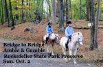 """The Bridge to Bridge Amble and Gamble"" at Rockefeller Preserve"