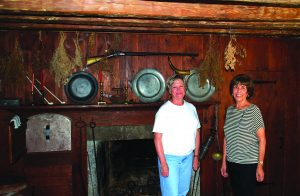 Town Historian Sharon Tomback (left) and Historical Society President Anna Maria Marrone at Smith's Tavern in Armonk.