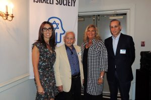 Laura Kleinhandler of Rye Brook, UJA-Federation's Westchester Women Chair; Aron Bell; Michele Gregson of Chappaqua, UJA-Federation's Westchester Women Vice Chair; and Alan Bell Photo courtesy of UJA-Federation of NY