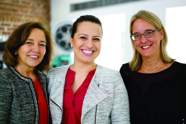 Carola, Catalina Cruz from the Governor's office, and Mary Weiss, Board member, Chappaqua