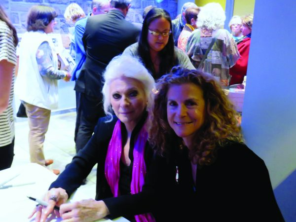 Judy Collins with Armonk resident Shari Applebaum