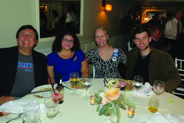 (L-R) Angelo Grasso, Hilary Steuer Grasso, Kelly Leonard, Dylan O'Keefe