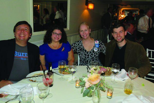 (L-R) Angelo Grasso, Hilary Steuer Grasso, Kelly Leonard, Dylan O'Keefe
