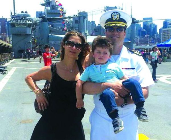 Dr. Singer with his wife Dana and son Yonatan at Fleet Week