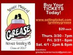 "Horace Greeley Production of ""Grease"" Set for March 30, 31, and April 1"