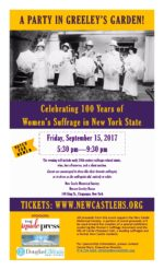 "100 Years of Women's Suffrage in New York State with a ""Party in Greeley's Garden"""