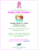Making Strides Holiday Boutique at Houlihan Lawrence