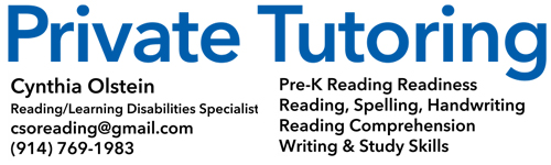 Cynthia Olstein: Private Tutoring