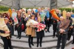 Procession of 28 Rescued Holocaust Torahs at April 12 Yom Hashoah Commemoration